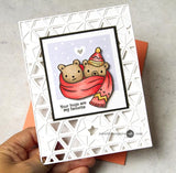 Pinkfresh Studio Clear Stamp Set 4x6 inch - Happy Hugs