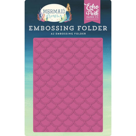 Echo Park Embossing Folder A2 Mermaid Scales