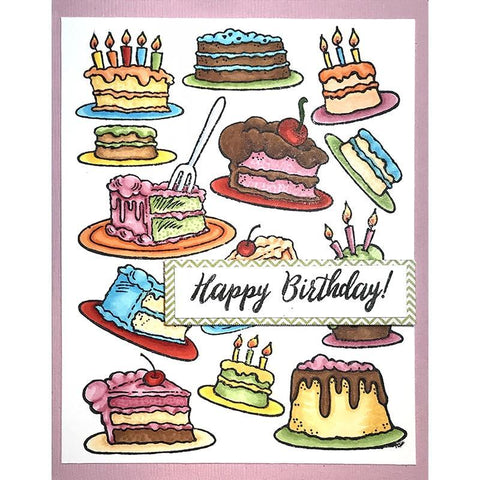 Stampendous Cling Stamp - Cake Background