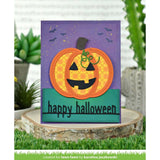 Lawn Cuts - Custom Craft Die - Happy Halloween Line Border
