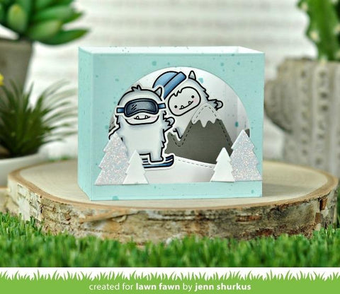 Lawn Cuts - Custom Craft Die - Shadow Box Card Mountain Add-On