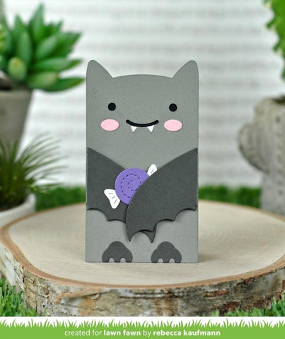 Lawn Cuts - Custom Craft Die - Woodland Critter Huggers Bat Add-On