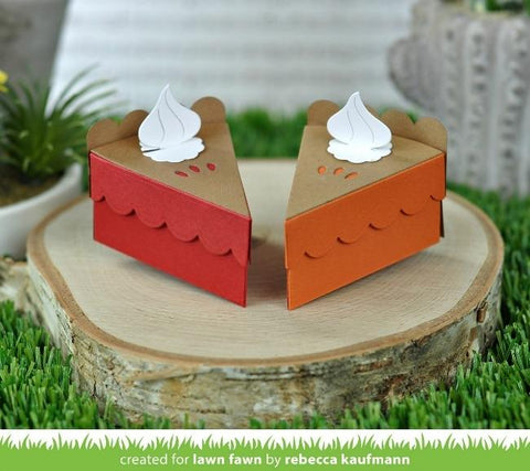 Lawn Cuts - Custom Craft Die - Cake Slice Box Pie Add-On