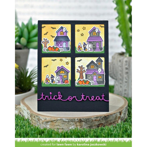 Lawn Fawn - Clear Stamps 4 inch X6 inch - Spooky Village