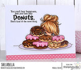 Stamping Bella Cling Stamps - Mochi Girl Sentiments - Get well wishes is approx. 0.25 x 2 in.