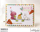Stamping Bella Cling Stamps - Bundle Girl Tea Party - Stamp is approx. 2.5 x 4 in.