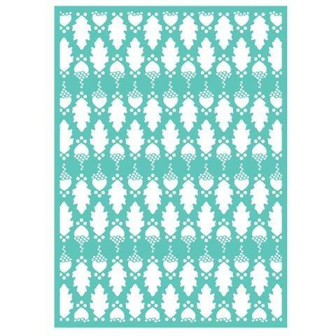 Cuttlebug 5X7 OAK Embossing Folder