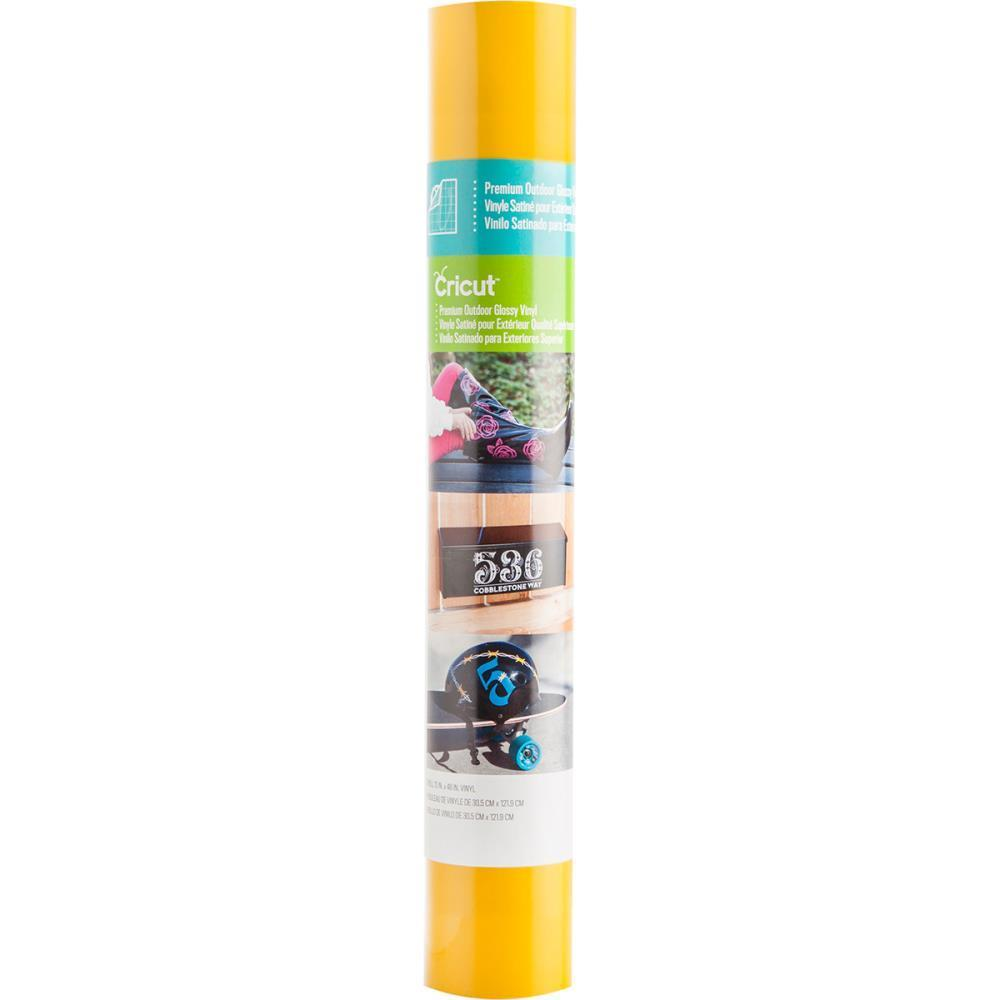 Cricut Premium Outdoor Vinyl Glossy - Medium Yellow 12x48 Inch