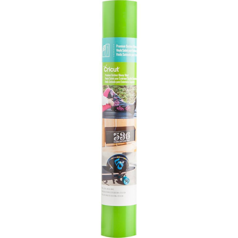 Cricut Premium Outdoor Vinyl Glossy - Lime Green 12x48 Inch