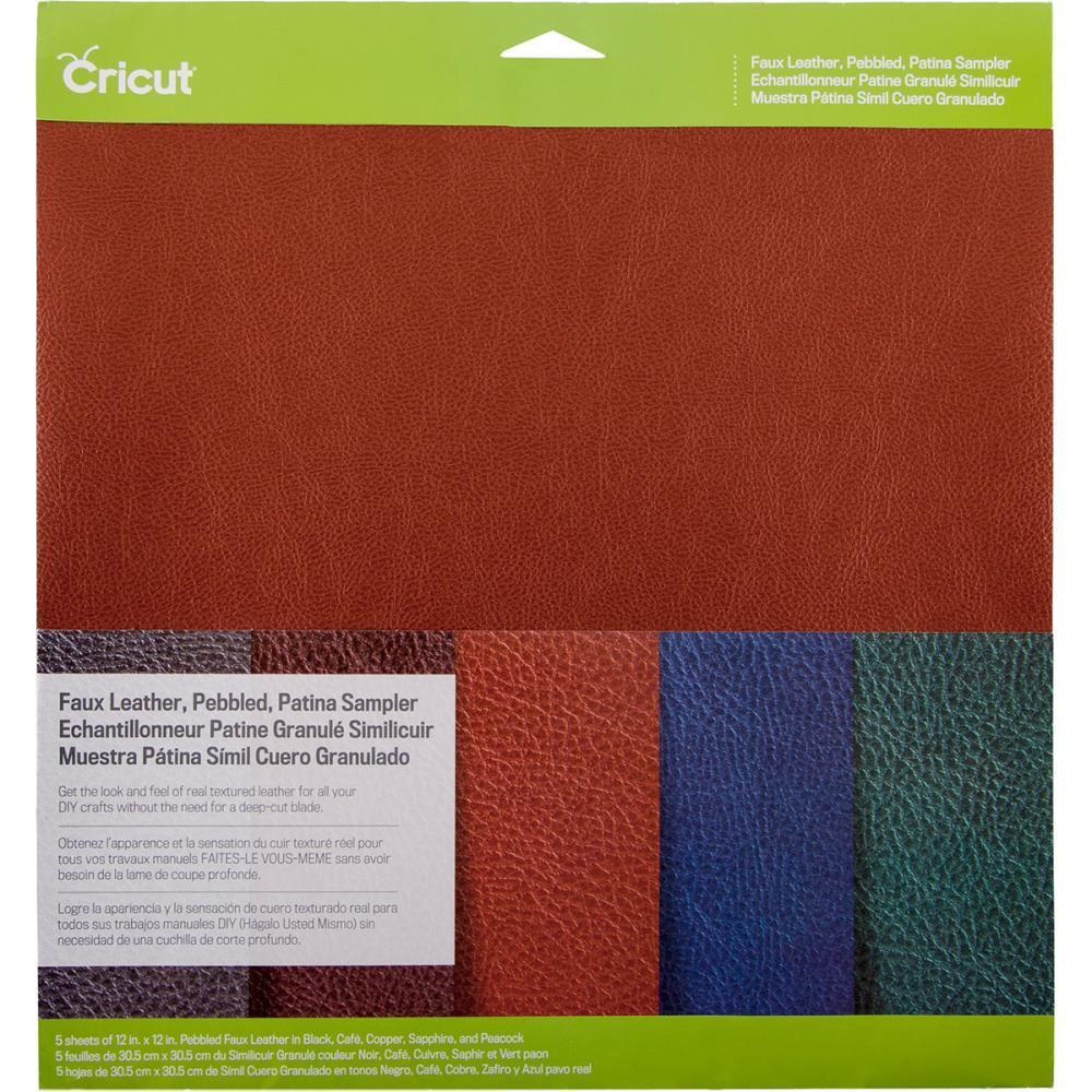 Cricut Pebbled Faux Leather Sampler 12 inch X12 inch 5 pack Pantina