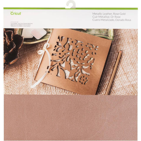Cricut Soft Metallic Leather 12x12 inch - Rose Gold