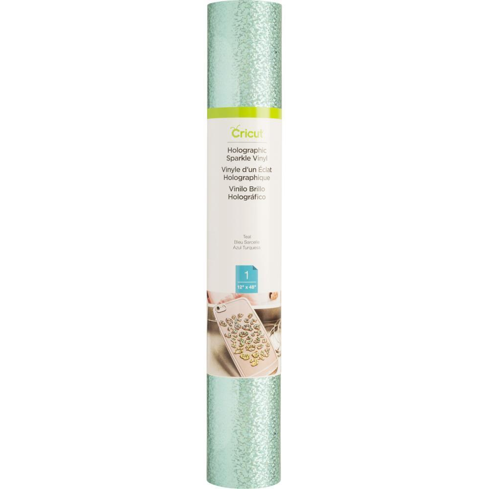 Cricut Holographic Sparkle Vinyl 12x48 inch Roll - Teal