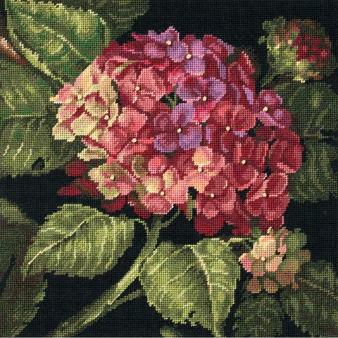 Dimensions Needlepoint Kit 14 inch X14 inch Hydrangea Bloom Stitched In Wool