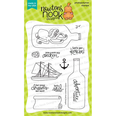 Newtons Nook Design Stamps - Message In A Bottle