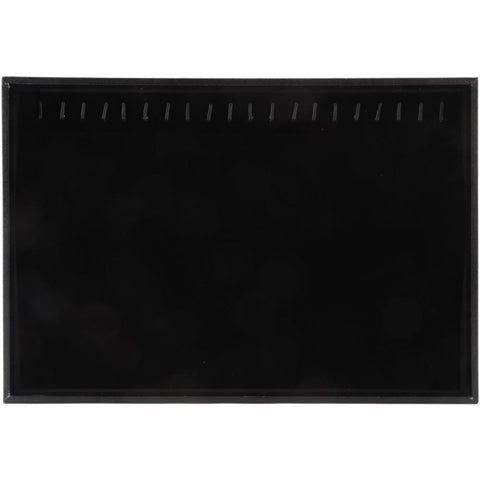 Jewellery Display Tray with Hooks 14x9.5 inch - Black Velvet