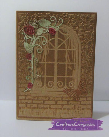 Crafters Companion - 3D Embossing Folder 5x7 inch - Country Cottage