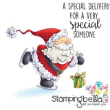 Stamping Bella Cling Stamp 6.5 Inch X4.5 Inch Santas Speed Delivery