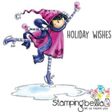 Stamping Bella Cling Stamp - Tiny Townie Skylar Loves To Skate