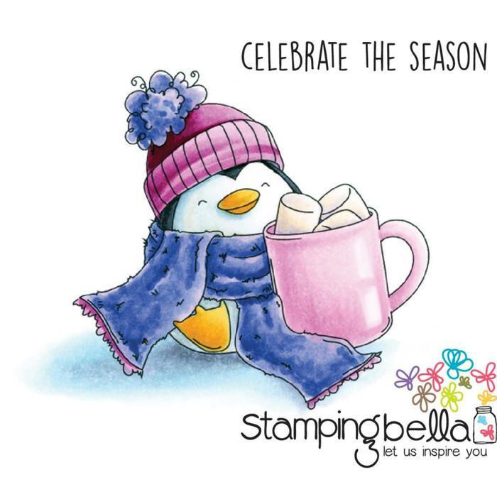 Stamping Bella Cling Stamp 6.5 Inch X4.5 Inch Penguin And The Marshmallow