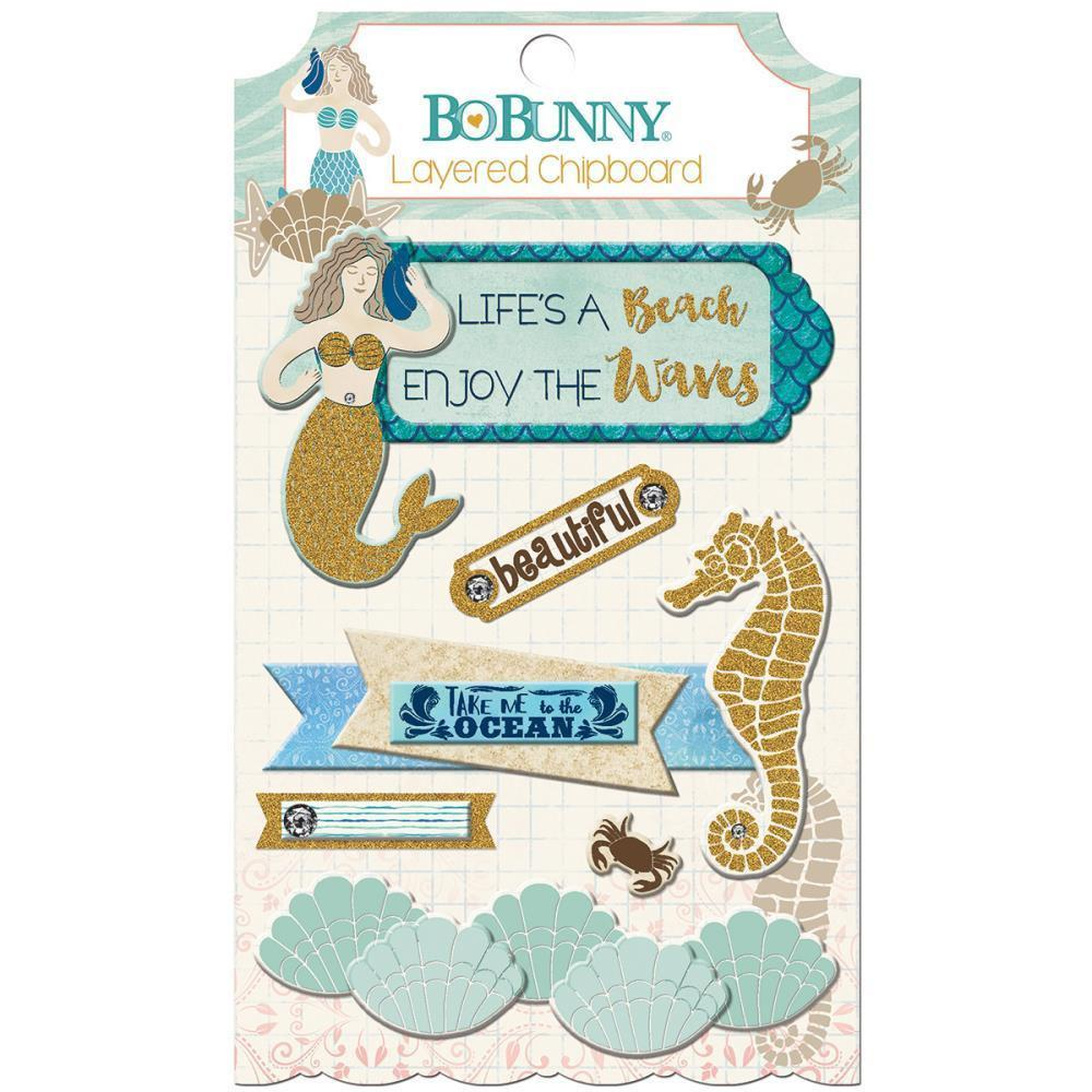 Bo Bunny Adhesive Layered Chipboard - Down By The Sea