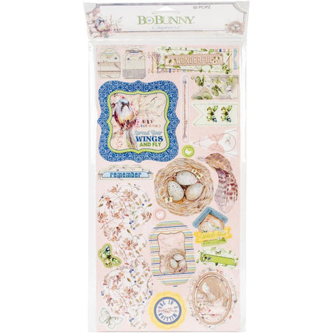 Bo Bunny Adhesive Chipboard Accents 6x12 inch - Down By The Sea