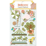 Bo Bunny Adhesive Layered Chipboard -Weekend Adventures