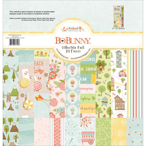 Bo Bunny Collection Pack 12x12 inch - Weekend Adventures