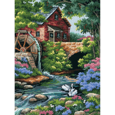 Dimensions Needlepoint Kit 12 inch X16 inch Old Mill Stitched In Thread