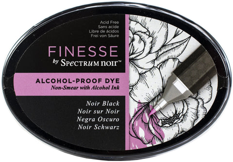 Spectrum Noir Finesse Alcohol Proof Ink Pad - Noir Black