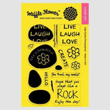 Waffle Flower Clear Stamps - Rock My World *