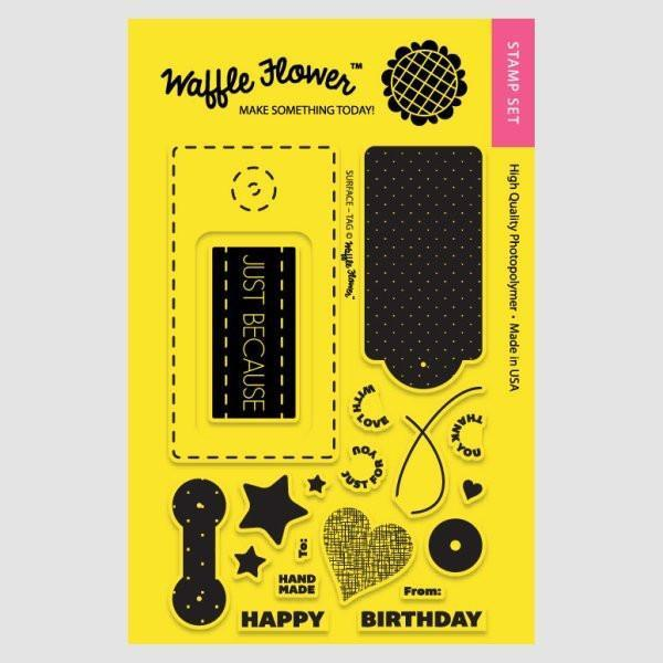 Waffle Flower Clear Stamps - Surface Tag *