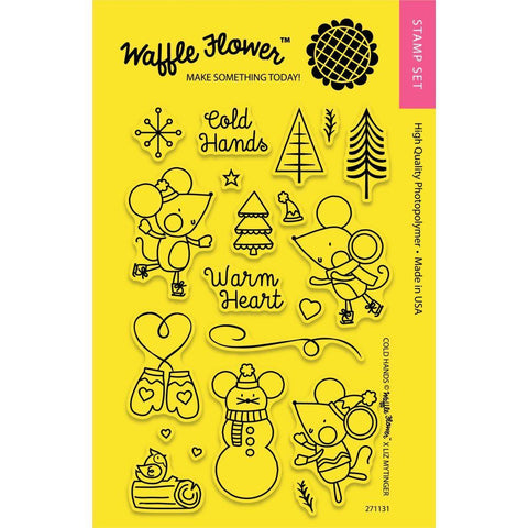 Waffle Flower Crafts Clear Stamps 4x6 inch - Cold Hands