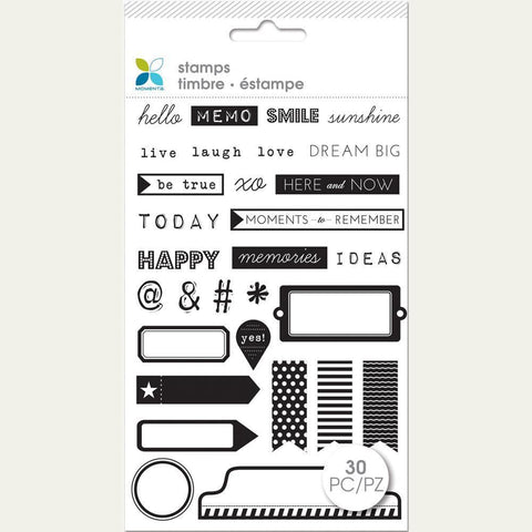 Momenta Clear Stamps 4X7.5 Hello Memo