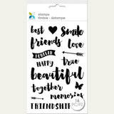 Momenta Clear Stamps 4X7.5 Best Friends