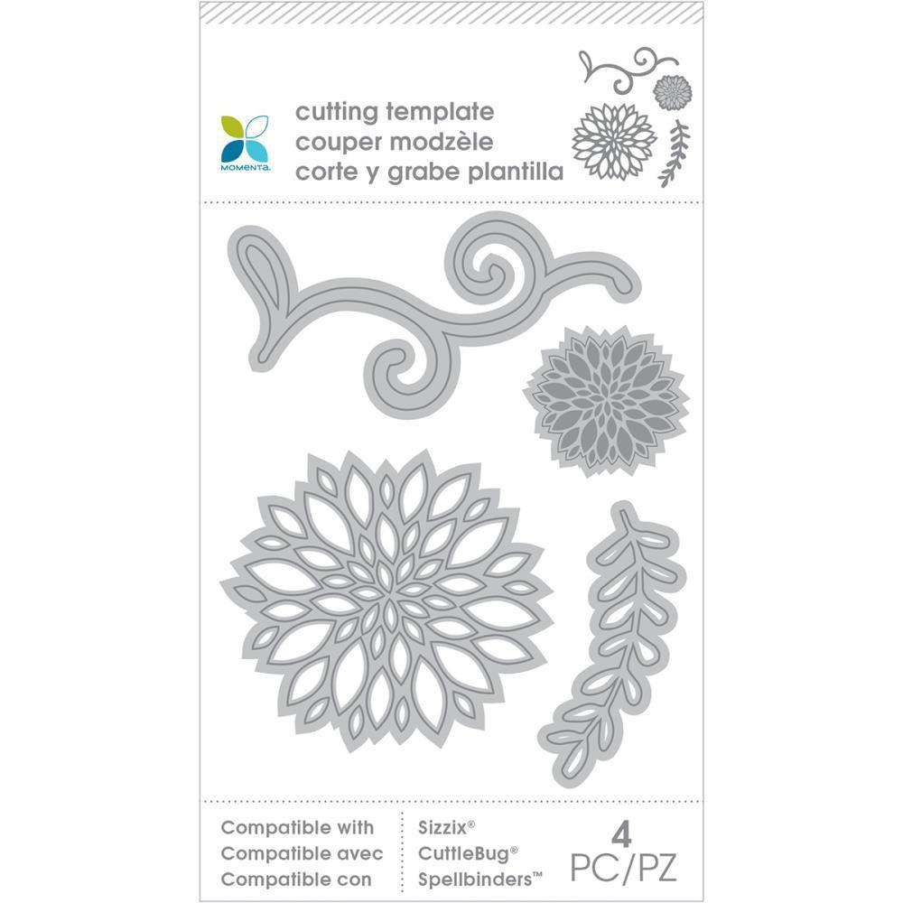 Momenta Die Cutting Templates Plants, 4 pieces