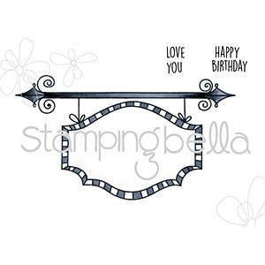 Stamping Bella Cling Stamp 6.5x4.5 Inch - Sign Base For Edna Blows A Kiss