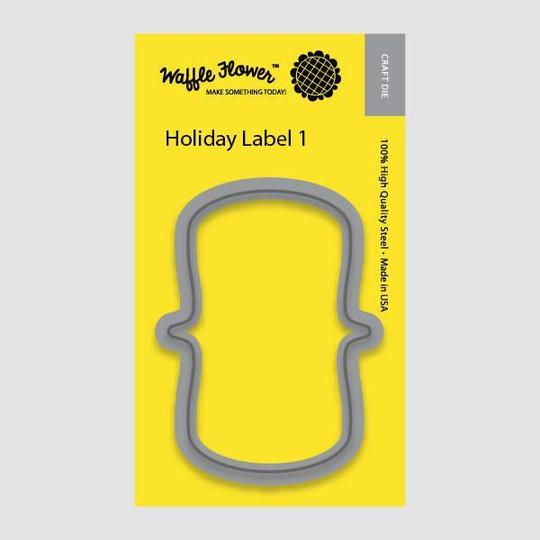 Waffle Flower Dies - Holiday Label 1 *