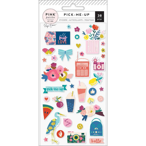 Pink Paislee - Paige Evans Pick Me Up - Puffy Stickers Icons