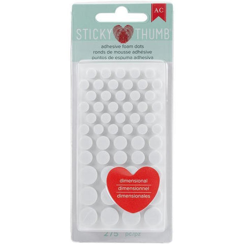 American Crafts - Sticky Thumb - Dimensional Foam Dots (275 Pk)