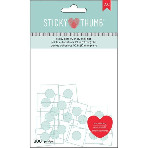 American Crafts - Sticky Thumb Flat Sticky Dots 0.5 Inch (300)