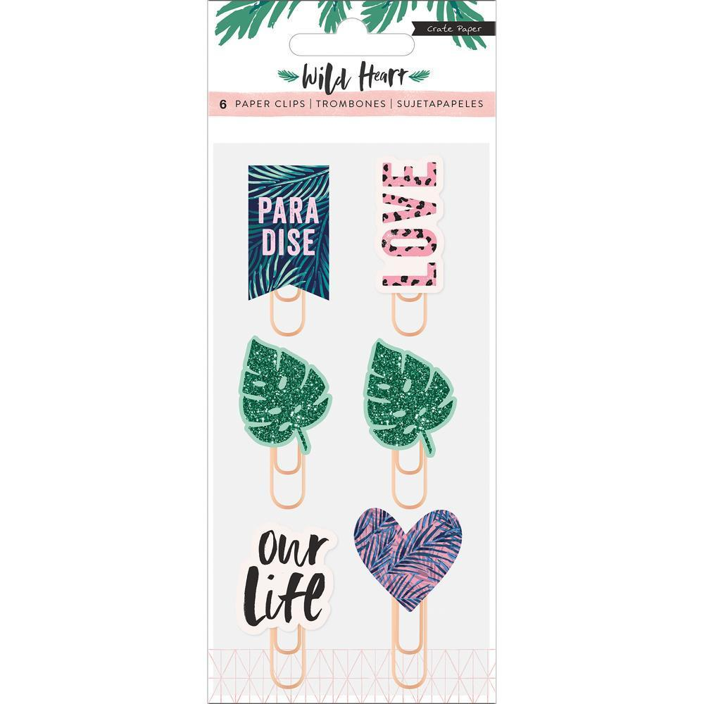 Crate Paper - Wild Heart Decorative Clips 6 pack