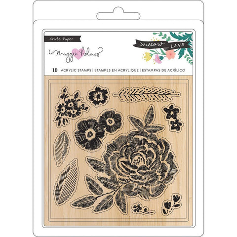 Crate Paper - Maggie Holmes Willow Lane - Clear Stamps 10 pack