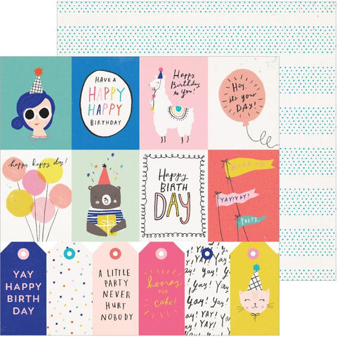 Crate Paper - Hooray D/S Cardstock 12x12 inch - For You