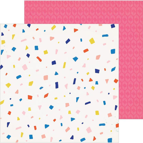 Crate Paper - Hooray D/S Cardstock 12x12 inch - Confetti