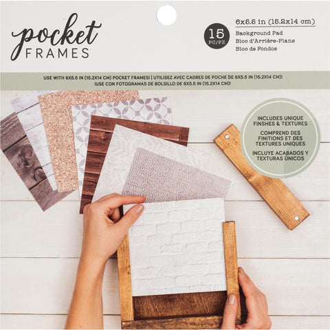 American Crafts Pocket Frames Paper Pad 6 inch X6 inch 15 pack 15 Designs/1 Each