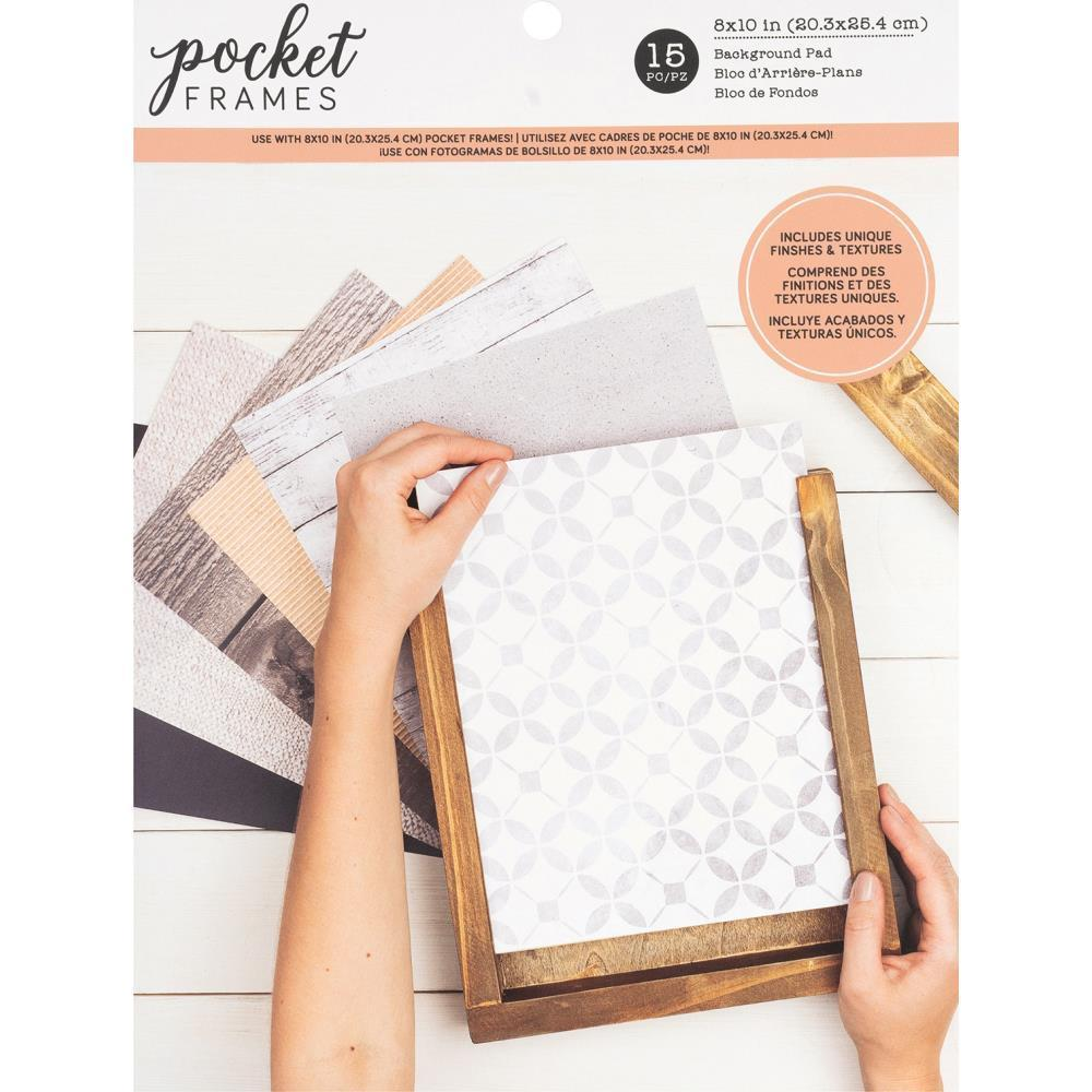 American Crafts Pocket Frames Paper Pad 8 inch X10 inch 15 pack 15 Designs/1 Each
