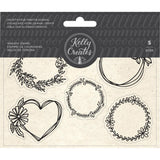 Kelly Creates Acrylic Traceable Stamps - Wreaths