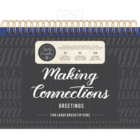 Kelly Creates Large Brush Workbook 11.6x10 inch 128 pack - Connections/Greetings