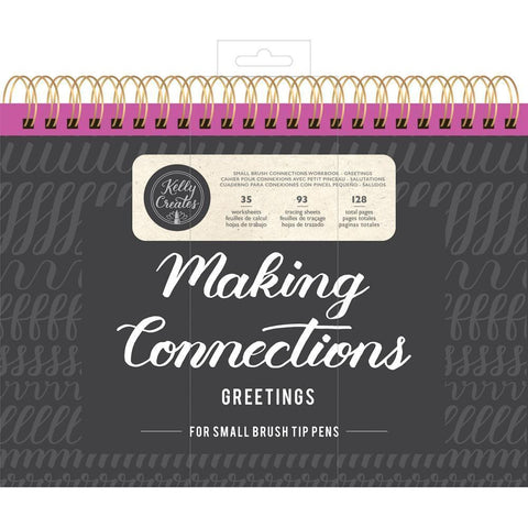 Kelly Creates Small Brush Workbook 11.6x10 inch 128 pack - Connections/Greetings