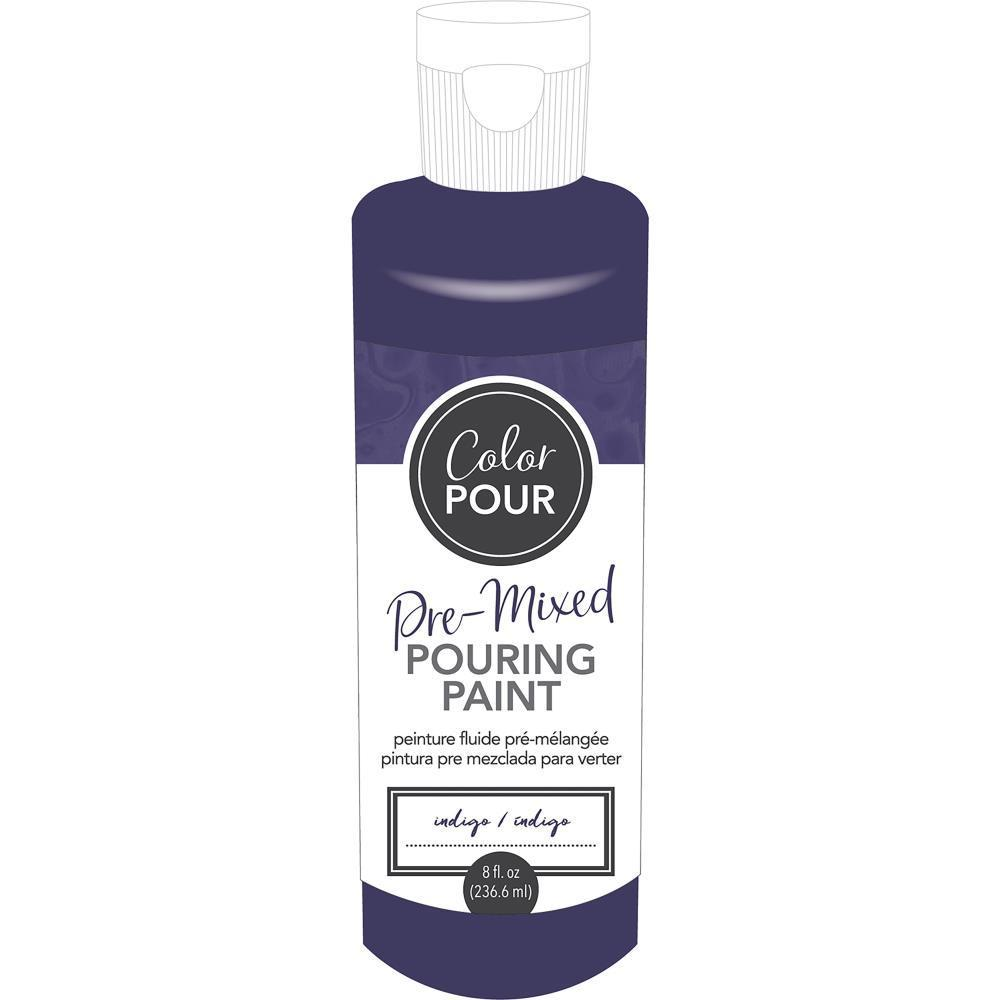 American Crafts Colour Pour Pre-Mixed Paint 8oz Indigo